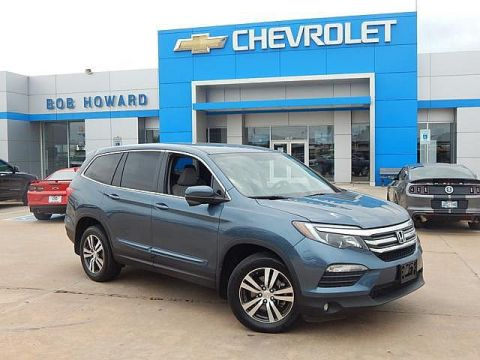 Pre-Owned 2017 Honda PILOT | BOB HOWARD CHEVROLET 405-748-7700 | BACK UP CAMERA | SIDE VIEW CAMERA | DVD PLAYER | AWD | 8 PASSENGER | POWER TAILGATE | PREMIUM WHEELS | 5 STAR SAFTEY |